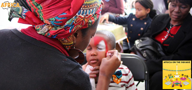 Africa-On-The-Square-2015-Africa-Fashion-Face-Painting