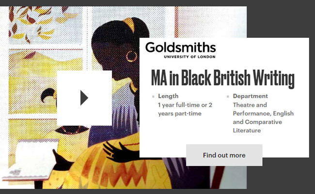Goldsmiths-University-MA-Black-British-Writing