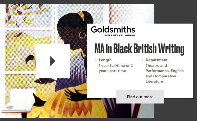 Goldsmiths-University-MA-Black-British-Writing
