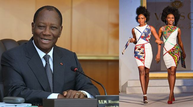 Alassane Ouattara G R Toure Africa Fashion Discussion