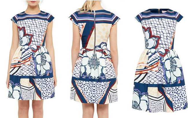 Ted-Baker-Wrennie-Tribal-Print-Skater-Dress-Africa-Fashion